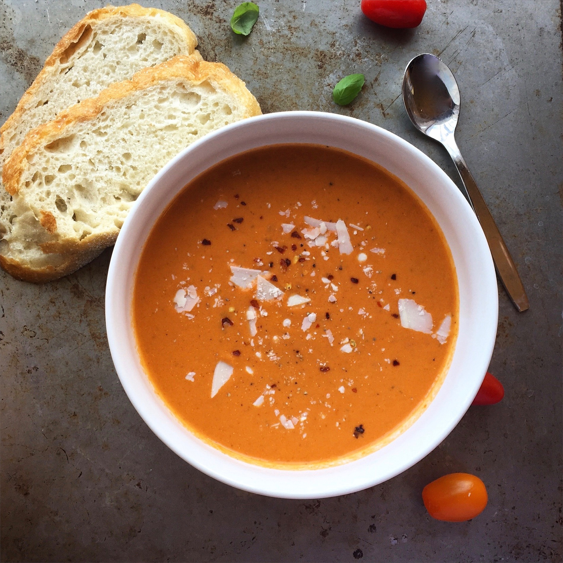 Roasted Tomato and Red Pepper Bisque