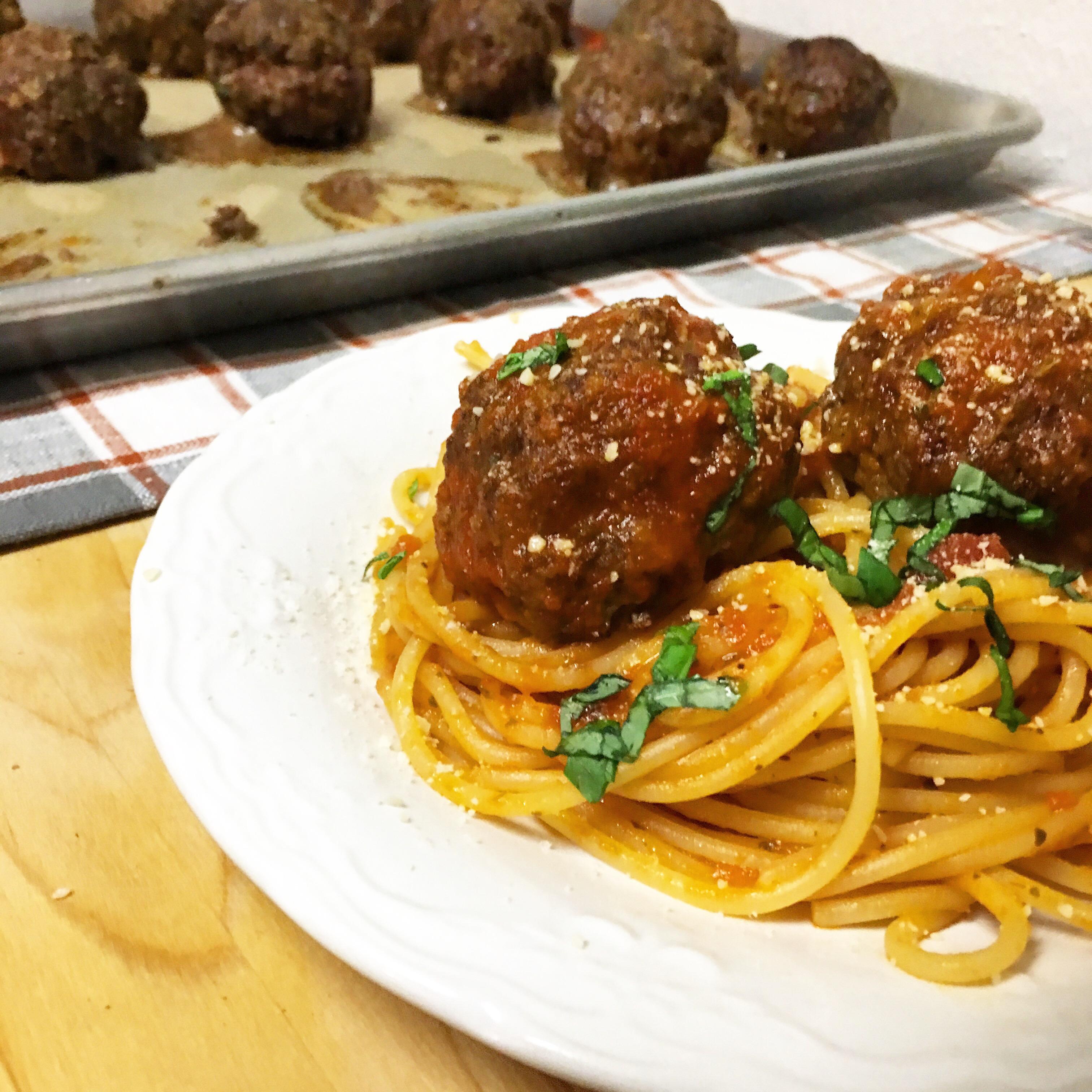 Healthy Baked Italian Meatballs